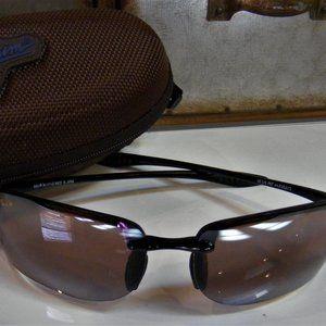 MAUI JIM Polarized Sunglasses Turtle Bay Blk Rose